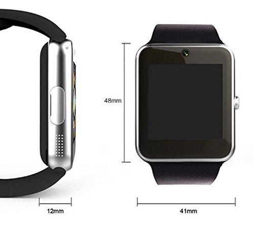 Reloj inteligente Bluetooth de 1,52 pulgadas con tarjeta TF de 32 GB, reloj de pulsera con pantalla táctil, podómetro inteligente con ranura para tarjeta SIM, llamada, masaje, para iOS iPhone y Android Reloj inteligente Bluetooth de 1,52 pu