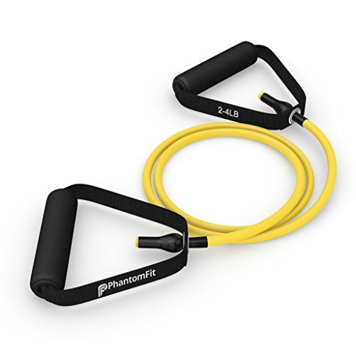 Phantom Fit Resistance Bands With Handles - Yellow 2-4 Lb.