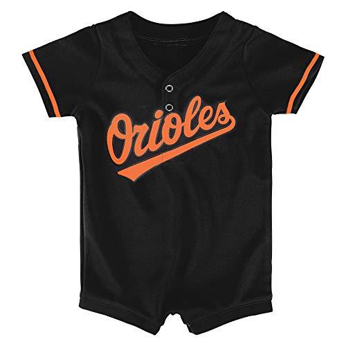 Black Orioles Jersey - Outerstuff MLB Newborn Infants Cool Base Home Alternate Romper Jersey (6/9 Months, Baltimore Orioles Alternate Black)