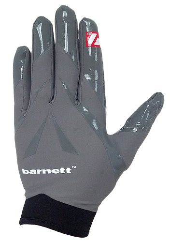 Gray Football Receiver Glove - barnett Football Receiver Gloves, FRG-03 (Adult XL, Gray)