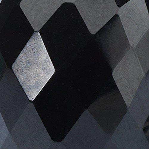 Trollbeads 925Onyx Noir Sparkle Cut Perle Argent sterling Espresso Noir Bracelet, 19cm