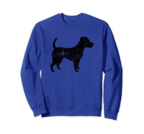 - Distressed Jack Russell Terrier Silhouette Dog Owner Sweatshirt