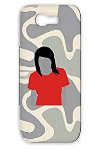 TPU Illustration Art Design Protective Hard Case For Sumsang Galaxy Note 2 Red Silhouette