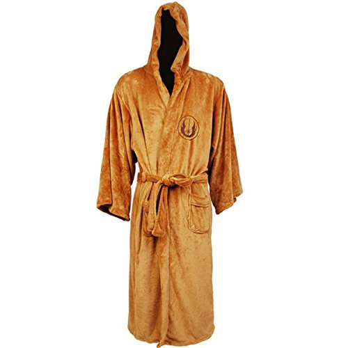 Janeyer Men's Star Wars Jedi Knight Galactic Empire Costume Cosplay Hooded Robe Yellow US XL(Asian Tag XL)