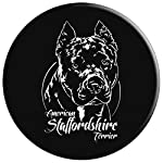 Funny Proud American Staffordshire Terrier dog portrait gift PopSockets Grip and Stand for Phones and Tablets 9