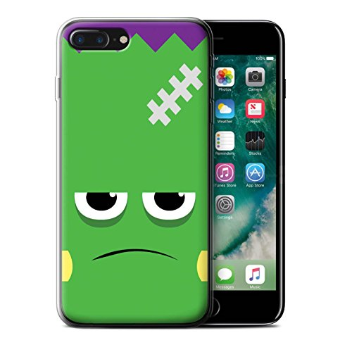 STUFF4 Gel TPU Phone Case / Cover for Apple iPhone 7 Plus / Frankenstein Design / Halloween Character (Halloween Characters Frankenstein)