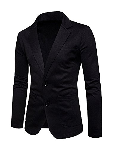 Noir Veste Bouton Fit Manteau Slim Elegant Costume Homme Jacket Casual Blazer Business qxtP7t40w