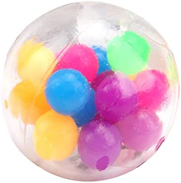 jingjing 2021 Nieuwe AntiDruk Angst Kleurrijke Stress Relief Ball Squeeze Speelgoed Spongy Kralen
