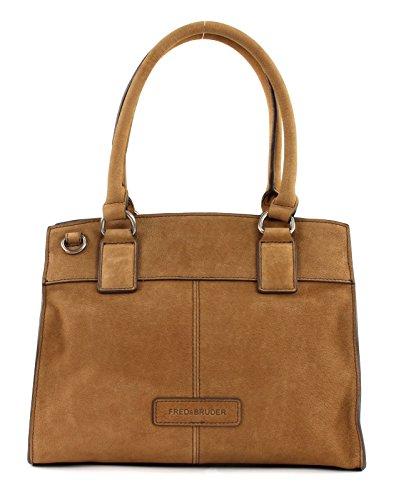 X Handtasche Fredsbruder Boxy Brown Velvet cognac C4pXFwRXq