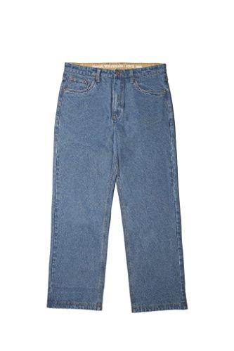 - Smith's Workwear Men's 5 Pocket Unlined Jeans, Light Vintage Wash 32x32