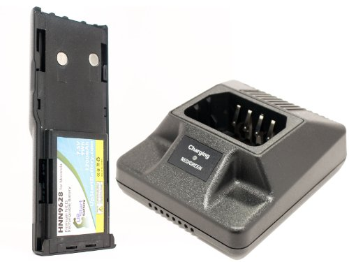 Motorola HNN9628 Battery and Charger for Motorola GP300, CP450, WPNN4044AR, Radius GP300, GTX Two-Way Radio (1200mAh, 7.5V, NI-CD) -