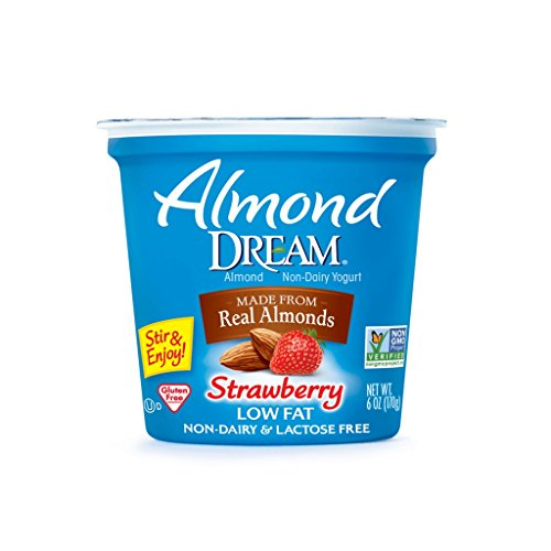 Almond Dream Non Dairy Yogurt, Strawberry, 6 Ounce (Pack of 12) (Free Strawberry Yogurt)