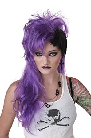 California Costumes Purple Smash Punk Wig, Purple/Black, One Size