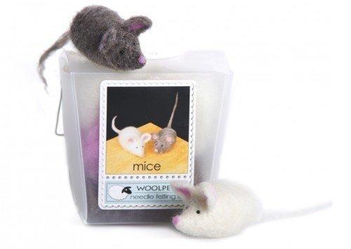 Woolpets, Needle Felting Kit, Easy, Mice, 1040