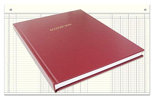 BookFactory Account Book/Ledger Book/Accounting Ledger/Account Notebook (Columnar Book Format) - 168 Pages, 8