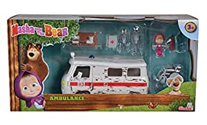 Amazon.com: Simba Toys Masha y el Oso Ambulancia Playset ...