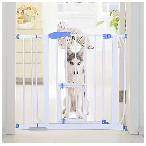 KCPer Safety Baby Gate, Extra Tall Durable Dog Gate with Door, Easy Walk-Thru Child Gate for The House, Stairs, Doorways & Hallways