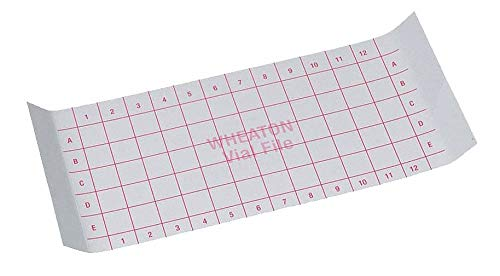 Index Card, for 60 Vials Store Case, PK35
