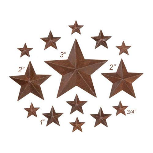 (Inspiration for A Project Ornament 14 Rusty Tin Look Dimensional Barn Stars ~ Asst Sizes ~ 3/4'', 1'', 2'', 3'' DIY Rustic Primitive Decor Ideas)