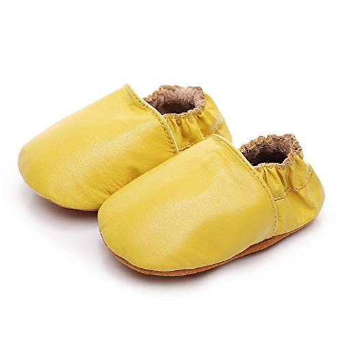BubbleColor New Baby Moccasins Infant Toddler Crib Shoes Girls Boys Crawling Slippers Newborn First Walking Soft Sole Leather Loafers (M:6-12 Months/4.72