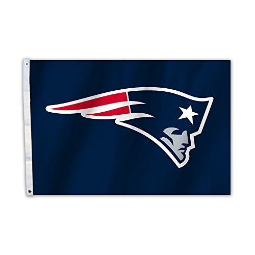 NFL New England Patriots Unisex New England Patriots 2 Ft. X 3 Ft. Flag W/Grommetts, Navy, One Size