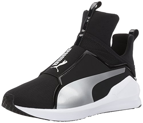 PUMA Women's Fierce Core, Black Silver, 8 M US