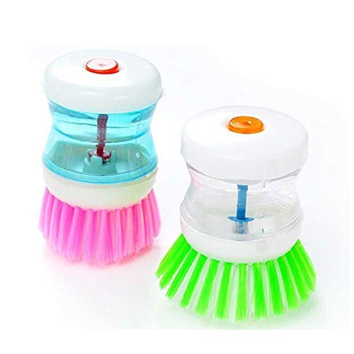 Rtiopo Creative Practical Kitchen Tools Automatically Add Liquid Cleaning Brush Brushes
