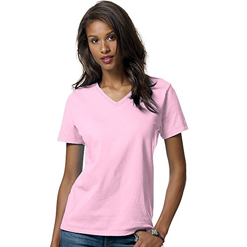 100% Comfortsoft Cotton (Hanes Women's Relax Fit Jersey V-Neck Tee)