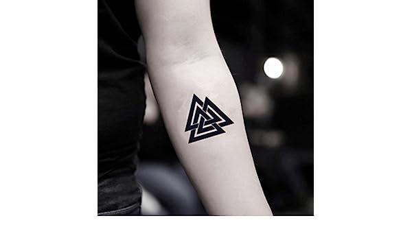 Tatuaje Temporal de Tres triángulos (2 Piezas) - www.ohmytat.com ...