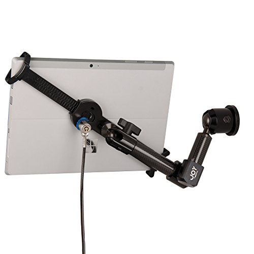 The Joy Factory LockDown Universal Wall/Cabinet/Countertop Carbon Fiber Security POS Mount with Key Lock for 7