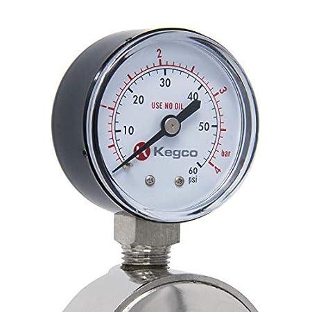 Chrome KC  LH-542 Kegco KC LH-542 Premium Pro Series Dual Gauge Co2 Draft Beer Regulator