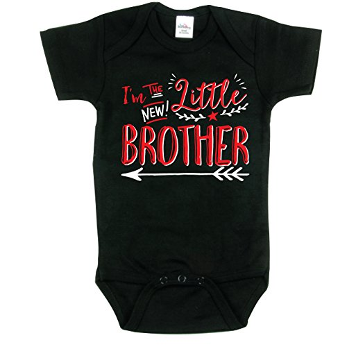 Texas Tees Little Brother, Brothers Bodysuit, Hipster Design, Includes Black 6-12 MO