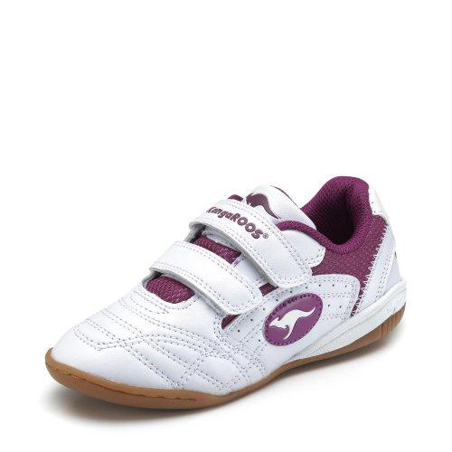 KangaROOS Unisex Backyard Klettband Turnschuhe Sportschuhe Schuhe Sneaker Weiß Schwarz Silber EUR 35