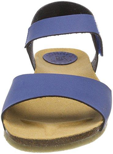 Jonny`s Vegan Women's Vega Open Toe Sandals Blue (Azulon 016) release dates 84TZbm