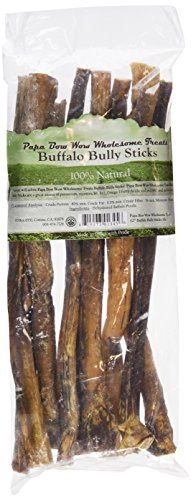 Papa Bow Wow Buffalo Treats for Dogs, Bully Stix 12in 1 lb
