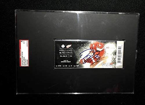 Dylan Larkin Detroit Red Wings Signed First Nhl Goal Ticket Sgc Slabbed Au826089 - Hockey Slabbed Autographed Rookie ()