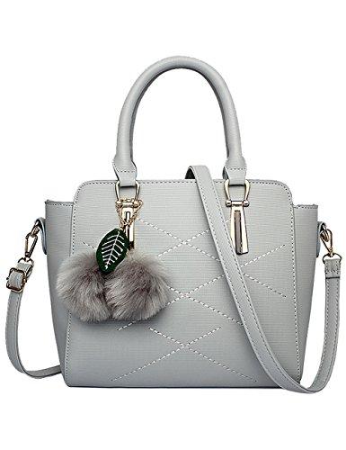 Menschwear Leather Rosa a PU Bag Tote Grigio lucida signore nuove tracolla borsa rr18dvq