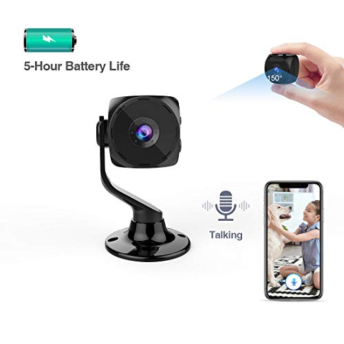 Mini Spy Hidden Camera, Wireless 1080P Security HD Spy Camera Nanny Camera Cop Cam WiFi Camera with Talk Two Way Night Vision,Outdoor Indoor Covert Surveillance Camera for Home,Car,Drone and Office