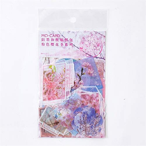 1pc\Cherry Blossom Bronzing DIY and Paper Stickers Girl Cute Aesthetic Art Album Diary Magazine Stickers Student Stationery (1)