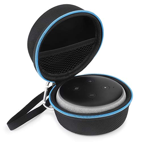 Price comparison product image Portable Carrying Case for All-New Echo Dot (3rd Gen) Echo Dot 2nd Generation, BASENOR Travel Protective Hard Case Cover with Carabiner