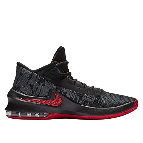 Nike Men's Air Max Infuriate 2 Mid Basketball Shoe Black/University Red/Anthracite Size 10.5 M US