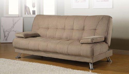amazon    coaster home furnishings casual sofa bed tan  kitchen  u0026 dining amazon    coaster home furnishings casual sofa bed tan  kitchen      rh   amazon