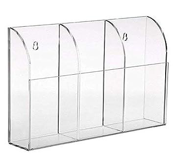 Acryl TV Fernbedienung Halter Organizer Wandhalterung Aufbewahrungskasten Box