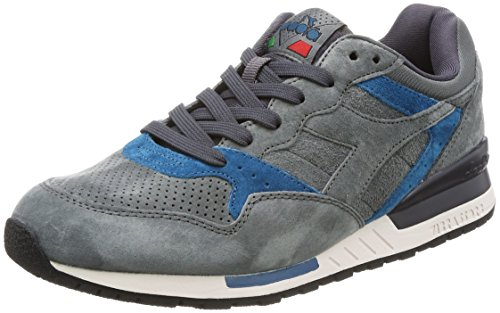 Diadora Uomo, Intrepid Premium Castle Rock Nine Iron Lyons BL, Suede, Sneakers, Grigio