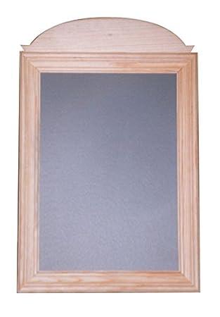 Pizarra con marco de madera. En crudo, ideal para decorar ...