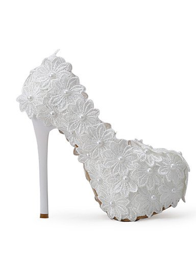 tacones Boda amp; Fiesta Eu39 us8 Cn40 Noche De blanco Zapatos tacones Uk6 Vestido Y mujer 5 Over Zq boda 5 5in p1qBCwF