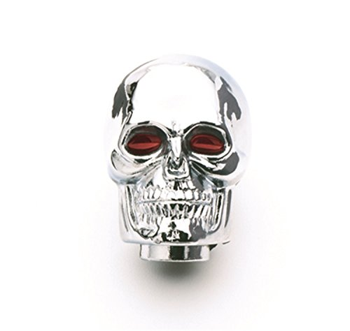 Mr. Gasket 9628 Chrome-Plated Skull Shifter Knob (Plated Chrome Shift)