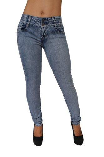 Butt Lift Colombian Style Skinny Leg Jeans By Crocker CR-M636LBLU (5) by Diamante