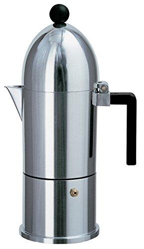 Alessi A9095/6 B La Cupola Espresso Maker With Black Handle 6 Cups by Alessi