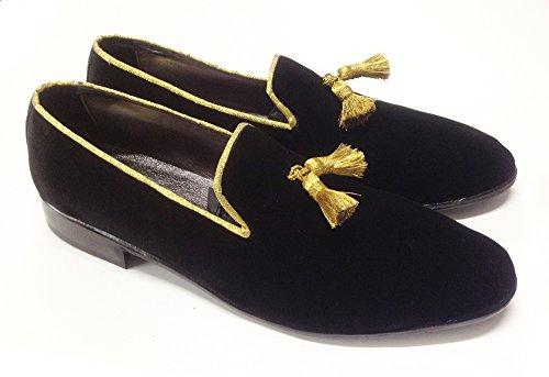 scarpe uomo mocassini slippers in velluto con nappine Populares En Línea zlXlZn